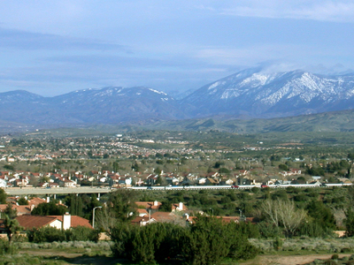 Palmdale Looking East Toward The Antelope Valley Freeway And The