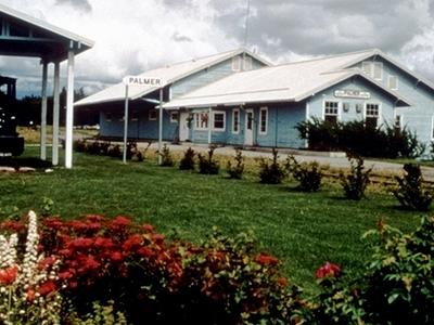 Palmer Depot With A Narrow Gauge Locomotive.