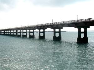 Pamban Rail Tesoura Ponte