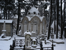 The Cemetery During A Snow Storm