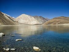 Pangong Range With Lake