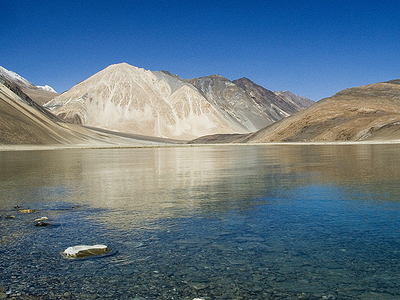 Pangong Range With Lake