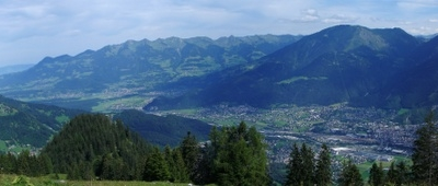 Panorama   Nonnenalpe To  Walgau With  Bludenz