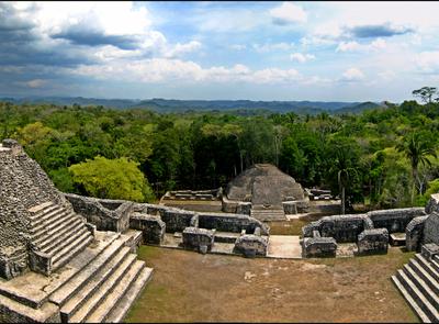 Panorama Atop Caracol