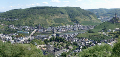 Panorama Of Cochem With The Cochem Imperial Castle On The Right