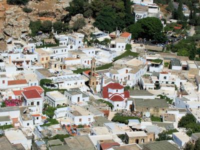 Panorama Of Lindos.
