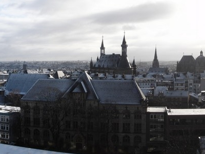 Panoramic View Of Aachen Including Kaiser Karls Gymnasium Foregr