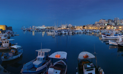 Panoramic View Of The Old Harbour.