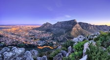 Panoramic Overview - Table Mountain & Cape Town SA