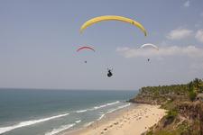 Paragliding At Varkala Beach