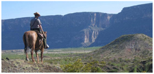 Park Ranger On A Horseback Patrol Near Santa Elena Canyon