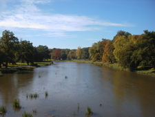 Neisse River In Muskau Park