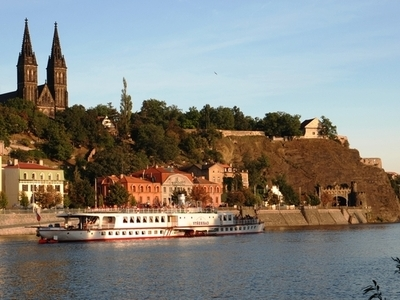 Vyšehrad As Seen Over The Vltava River