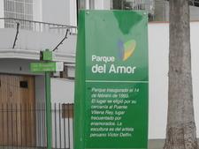 Parque Del Amor Info Plaque