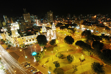 Parque Kennedy - Aerial Night View