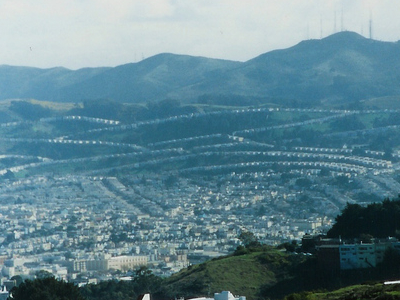 Part Of Daly City With San Bruno Mountain