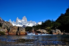 Patagonia Brook With Mount Fitz Roy Backdrop