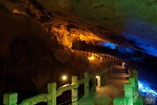 Pathway Inside A Reed Flute Cave - Guilin