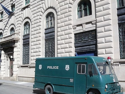 Patrol Wagon On Display Outside