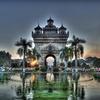 Patuxai With Front Pond - Vientiane