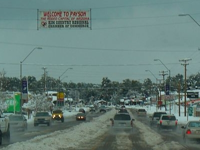 Payson During Winter Snow - Arizona