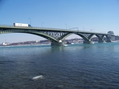 Peace Bridge From Canadian Side