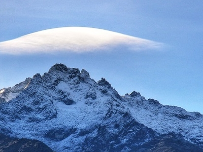 Peak Bolívar During Snow Season