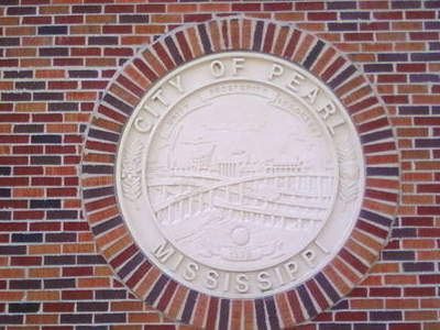 Pearl  Mississippi  Community  Center Wall With City Seal