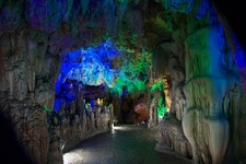 Peep Inside Reed Flute Cave Near Guilin