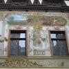 Peles Castle - Mural In Inner Court