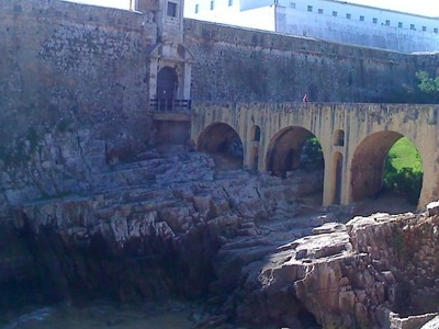 Old Harbour Walls At Peniche