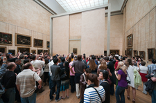 People Viewing The Mona Lisa Painting
