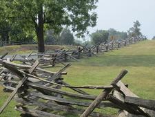 Period Fence At Manassas Battlefield