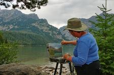 Phelps Lake Loop Hiker - Grand Tetons - Wyoming - USA
