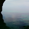 Gulf Of Corinth From Inside Seal's Cave