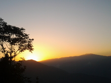 Sun Set From Darjeeling