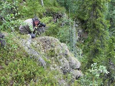 Photographing Oulanka Canyon From Top - Lapland Finland