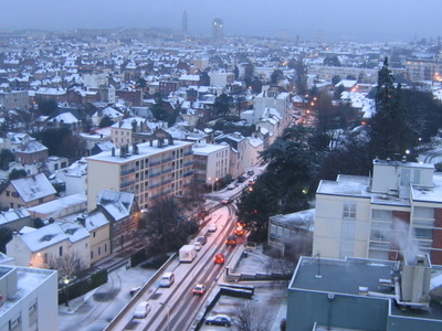 Le Havre Under Snow