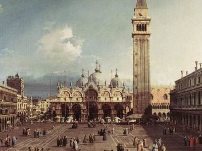 St Mark's Square With The Basilica