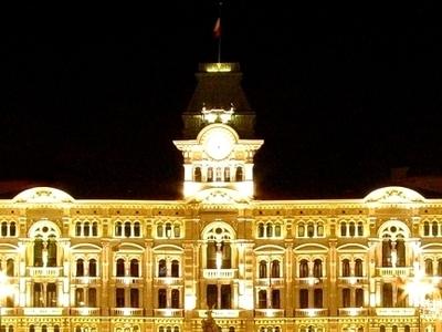 Piazza Unità D'Italia With City's Municipal Building