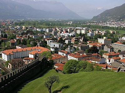 View Of Bellinzona From Castello Montebello