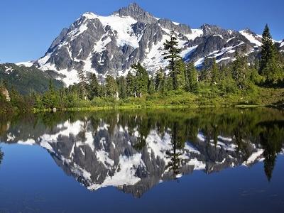 Picture Lake Reflecting Mount Shuksan WA