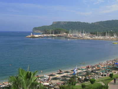 Picture Of The Beach And The Marina
