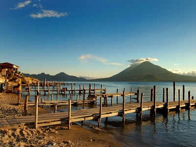 Pier On Lake Atitlan