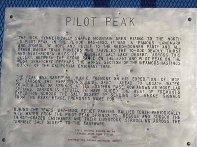 Pilot Peak Sign