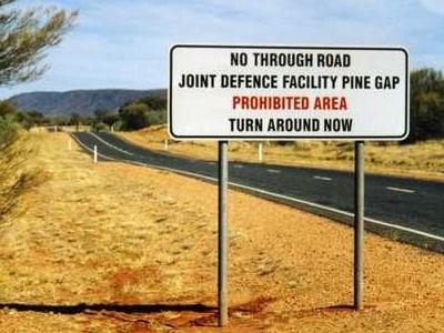 Pine Gap  Sign