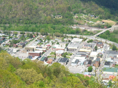Pineville As Seen From Atop Pine Mountain