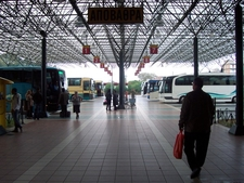 The Bus Terminal In Pyrgos