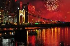 Pittsburgh Downtown With Roberto Clemente Bridge - Pennsylvania