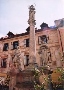 Plague Pillar In Skofja Loka